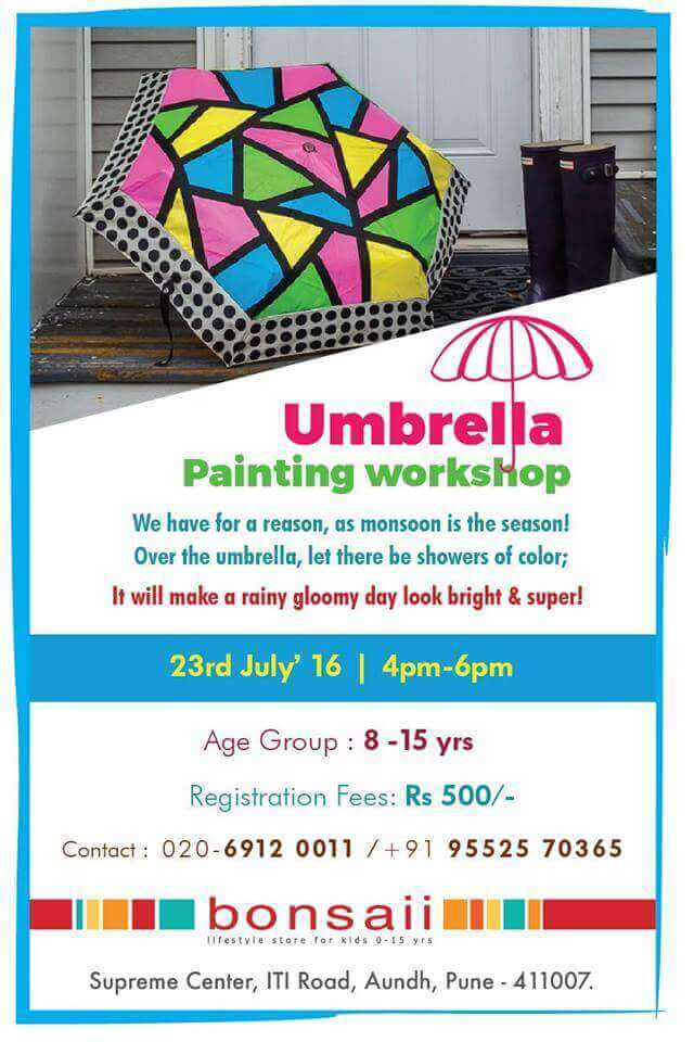 c89917edfadb5 Umbrella Painting Workshop @ bonsaii Aundh | banerbalewadi.com